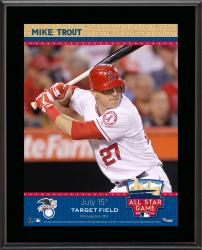 "Mike Trout Los Angeles Angels of Anaheim 2014 MLB All-Star Game Sublimated 10.5"" x 13"" Plaque"