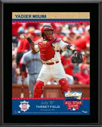 "Yadier Molina St. Louis Cardinals 2014 MLB All-Star Game Sublimated 10.5"" x 13"" Plaque"