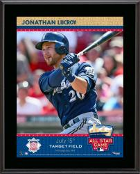 """Jonathan Lucroy Milwaukee Brewers 2014 MLB All-Star Game Sublimated 10.5"""" x 13"""" Plaque"""
