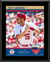 "Matt Carpenter St. Louis Cardinals 2014 MLB All-Star Game Sublimated 10.5"" x 13"" Plaque"