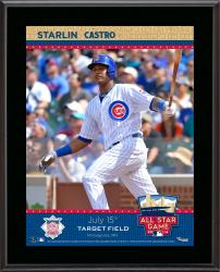 """Starlin Castro Chicago Cubs 2014 MLB All-Star Game Sublimated 10.5"""" x 13"""" Plaque"""