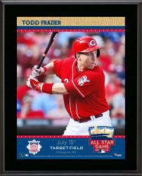 """Todd Frazier Cincinnati Reds 2014 MLB All-Star Game Sublimated 10.5"""" x 13"""" Plaque"""
