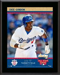 """Dee Gordon L.A. Dodgers 2014 MLB All-Star Game Sublimated 10.5"""" x 13"""" Plaque"""