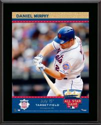 """Daniel Murphy New York Mets 2014 MLB All-Star Game Sublimated 10.5"""" x 13"""" Plaque"""