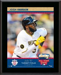 """Josh Harris Pittsburgh Pirates 2014 MLB All-Star Game Sublimated 10.5"""" x 13"""" Plaque"""