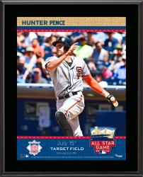 """Hunter Pence San Francisco Giants 2014 MLB All-Star Game Sublimated 10.5"""" x 13"""" Plaque"""