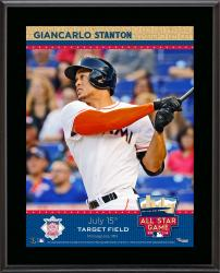 """Giancarlo Stanton Miami Marlins 2014 MLB All-Star Game Sublimated 10.5"""" x 13"""" Plaque"""