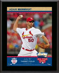 """Adam Wainwright St. Louis Cardinals 2014 MLB All-Star Game Sublimated 10.5"""" x 13"""" Plaque"""