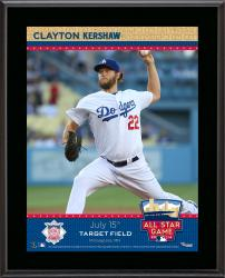 """Clayton Kershaw 2014 MLB All-Star Game Sublimated 10.5"""" x 13"""" Plaque"""