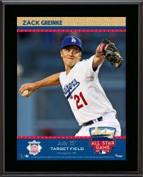 """Zack Greinke L.A. Dodgers 2014 MLB All-Star Game Sublimated 10.5"""" x 13"""" Plaque"""