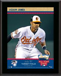 Adam Jones Baltimore Orioles 2014 MLB All-Star Game Sublimated 10'' x 13'' Plaque