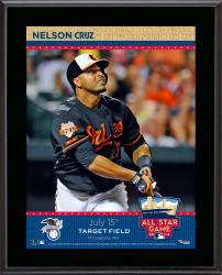 """Nelson Cruz Baltimore Orioles 2014 MLB All-Star Game Sublimated 10.5"""" x 13"""" Plaque"""
