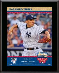 "Masahiro Tanaka New York Yankees 2014 MLB All-Star Game Sublimated 10.5"" x 13"" Plaque"