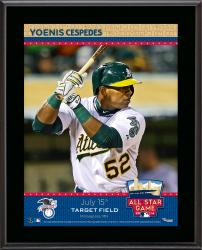 """Yoenis Cespedes Oakland Athletics 2014 MLB All-Star Game Sublimated 10.5"""" x 13"""" Plaque"""