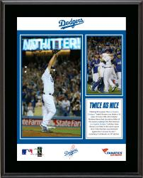 Clayton Kershaw Los Angeles Dodgers No-Hitter 10'' x 13'' Sublimated Plaque - Mounted Memories