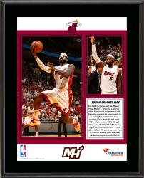 LeBron James Miami Heat Franchise Record 61 Points Sublimated 10.5'' x 13'' Plaque - Mounted Memories