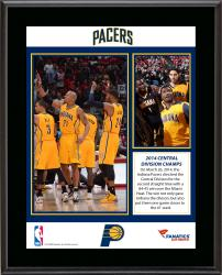 "Indiana Pacers 2014 Central Division Champions Sublimated 10.5"" x 13"" Plaque"