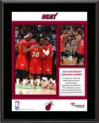 "Miami Heat 2014 Southeast Division Champions Sublimated 10.5"" x 13"" Plaque"