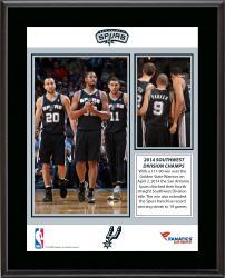 """San Antonio Spurs 2014 Southwest Division Champions Sublimated 10.5"""" x 13"""" Plaque"""