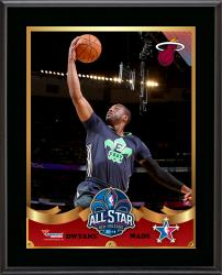 Dwyane Wade Miami Heat 2014 NBA All-Star Game Sublimated 10.5'' x 13'' Plaque - Mounted Memories