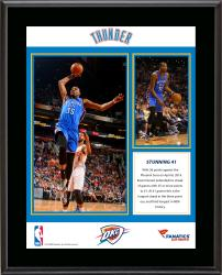 Kevin Durant Oklahoma City Thunder NBA Single-Season Record Most Consecutive Games with 25 Or More Points Sublimated 10.5'' x 13'' Plaque - Mounted Memories
