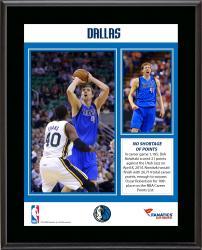 "Dirk Nowitzki Dallas Mavericks 10th All-Time NBA Most Points List Sublimated 10.5"" x 13"" Plaque"