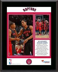 "Toronto Raptors 2014 Atlantic Division Champions Sublimated 10.5"" x 13"" Plaque"