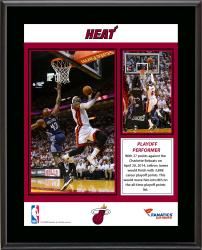 LeBron James Miami Heat 8th All-Time Playoff Scoring Sublimated 10.5'' x 13'' Plaque - Mounted Memories
