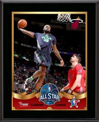 LeBron James Miami Heat 2014 NBA All-Star Game Sublimated 10.5'' x 13'' Plaque - Mounted Memories
