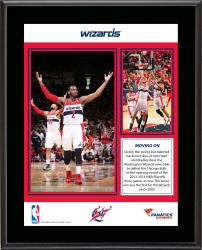 """Washington Wizards 1st Playoff Series Win Since 2005 Sublimated 10.5"""" x 13"""" Plaque"""