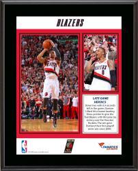 "Damian Lillard Portland Trail Blazers 1st Round Buzzer Beater Against the Houston Rockets Sublimated 10.5"" x 13"" Plaque"