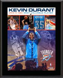 Kevin Durant Oklahoma City Thunder 2013-14 MVP Sublimated 10.5'' x 13'' Plaque  - Mounted Memories