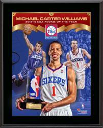 "Michael Carter-Williams Philadelphia 76ers 2013-14 ROY Sublimated 10.5"" x 13"" Plaque"