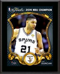 """Tim Duncan San Antonio Spurs 2014 NBA Finals Champions Sublimated 10.5"""" x 13"""" Plaque"""