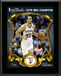 "Manu Ginobili San Antonio Spurs 2014 NBA Finals Champions Sublimated 10.5"" x 13"" Plaque"
