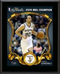 "Manu Ginobili San Antonio Spurs 2014 NBA Finals Champions Sublimated 10.5"" x 13"" Plaque"