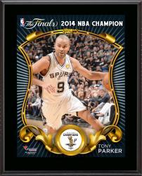 """Tony Parker San Antonio Spurs 2014 NBA Finals Champions Sublimated 10.5"""" x 13"""" Plaque"""