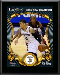 "Danny Green San Antonio Spurs 2014 NBA Finals Champions Sublimated 10.5"" x 13"" Plaque"