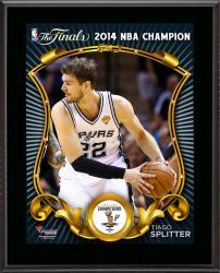 """Tiago Splitter San Antonio Spurs 2014 NBA Finals Champions Sublimated 10.5"""" x 13"""" Plaque"""