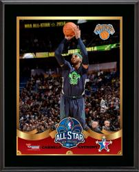 Carmelo Anthony New York Knicks 2014 NBA All-Star Game Sublimated 10.5'' x 13'' Plaque - Mounted Memories