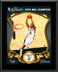 "Kawhi Leonard San Antonio Spurs 2014 NBA Finals Champions Sublimated 10.5"" x 13"" Plaque"