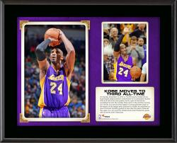 "Kobe Bryant Los Angeles Lakers Third All-Time Scoring Sublimated 10.5"" x 13"" Plaque"