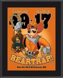 "Oklahoma State Cowboys Win Over Baylor Bears Sublimated 10.5"" x 13"" Matchup Plaque"