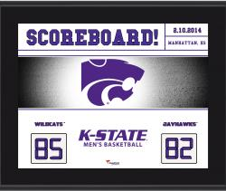 "Kansas State Wildcats Win Over Rival Kansas Jayhawks Sublimated 10.5"" x 13"" Scoreboard Plaque"