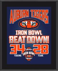 "Auburn Tigers Win Over Alabama Crimson Tide Sublimated 10.5"" x 13"" Matchup Plaque"