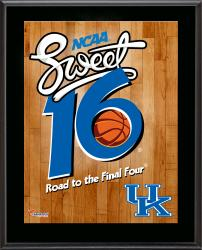 "Kentucky Wildcats 2014 Sweet 16 Sublimated 10.5"" x 13"" Plaque"