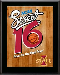 "Iowa State Cyclones 2014 Sweet 16 Sublimated 10.5"" x 13"" Plaque"