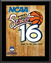 "UConn Huskies 2014 Women's Sweet 16 Sublimated 10.5"" x 13"" Plaque"