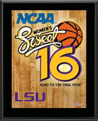 "LSU Tigers 2014 Women's Sweet 16 Sublimated 10.5"" x 13"" Plaque"
