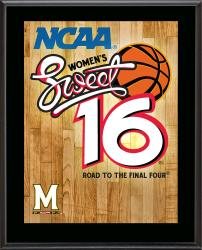 "Maryland Terrapins 2014 Women's Sweet 16 Sublimated 10.5"" x 13"" Plaque"